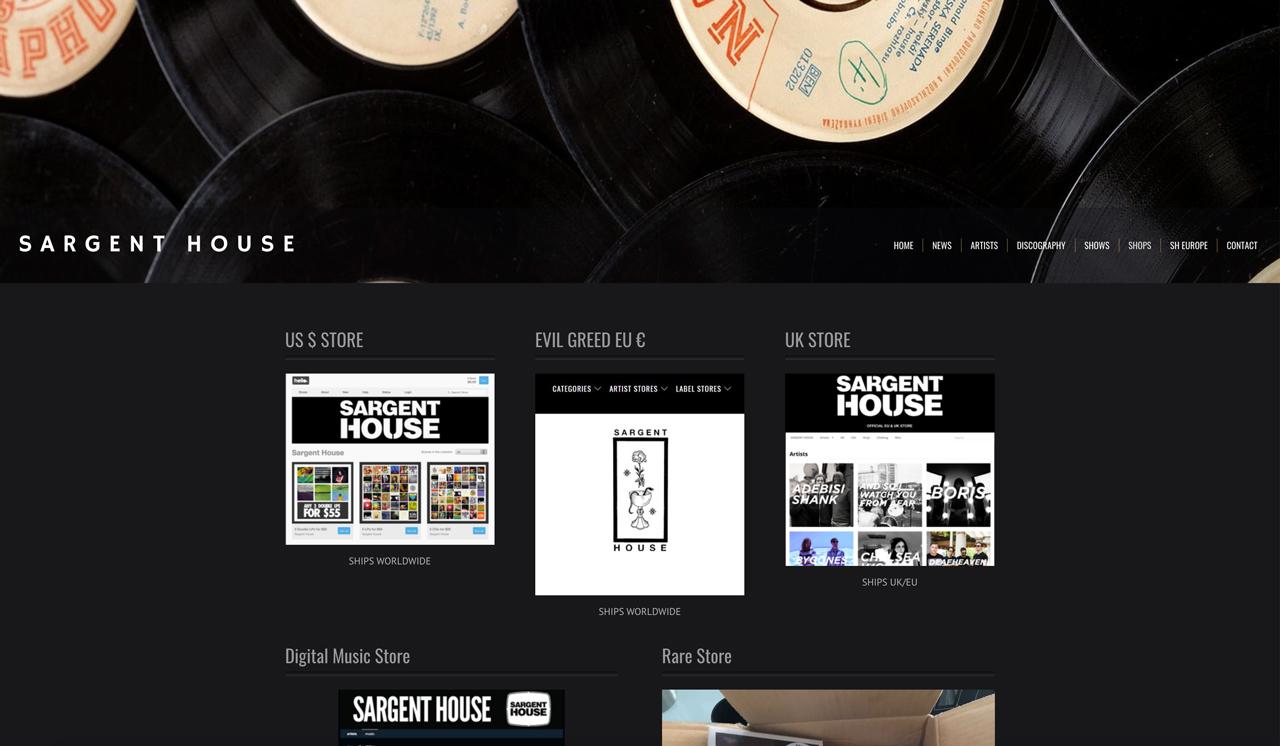 Best record label website designs