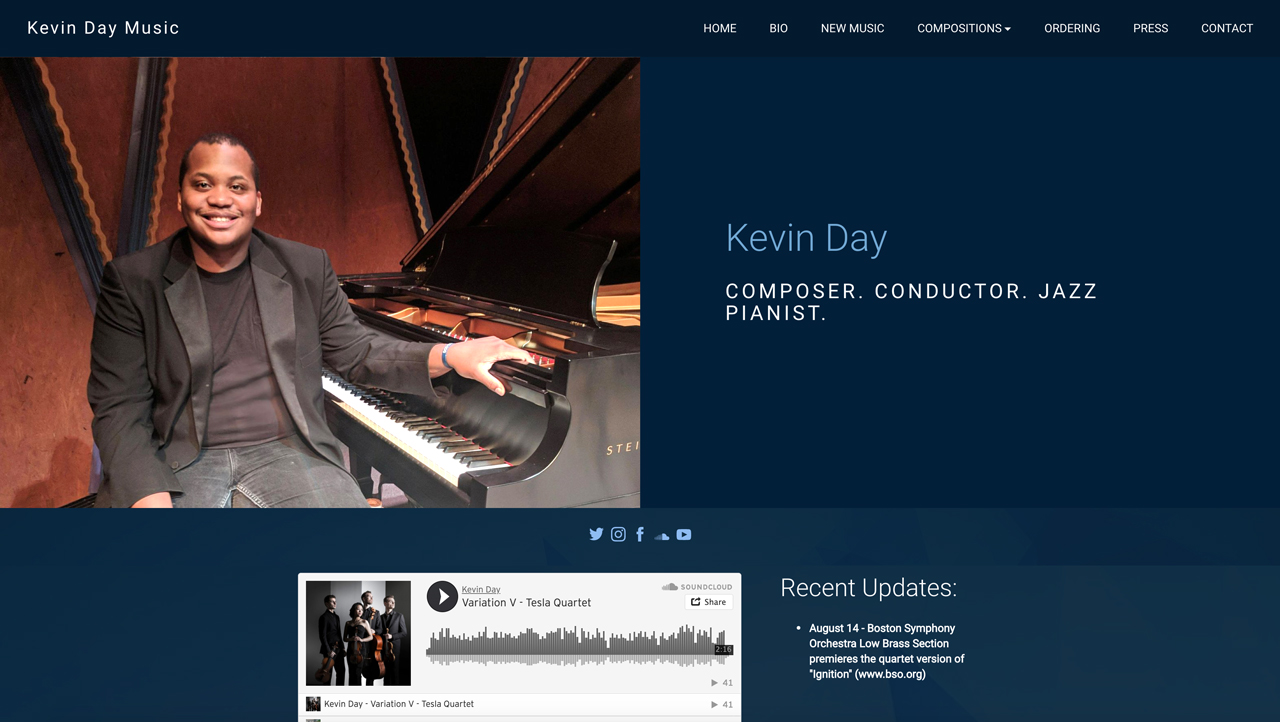 Design a great pianist website - Kevin Day