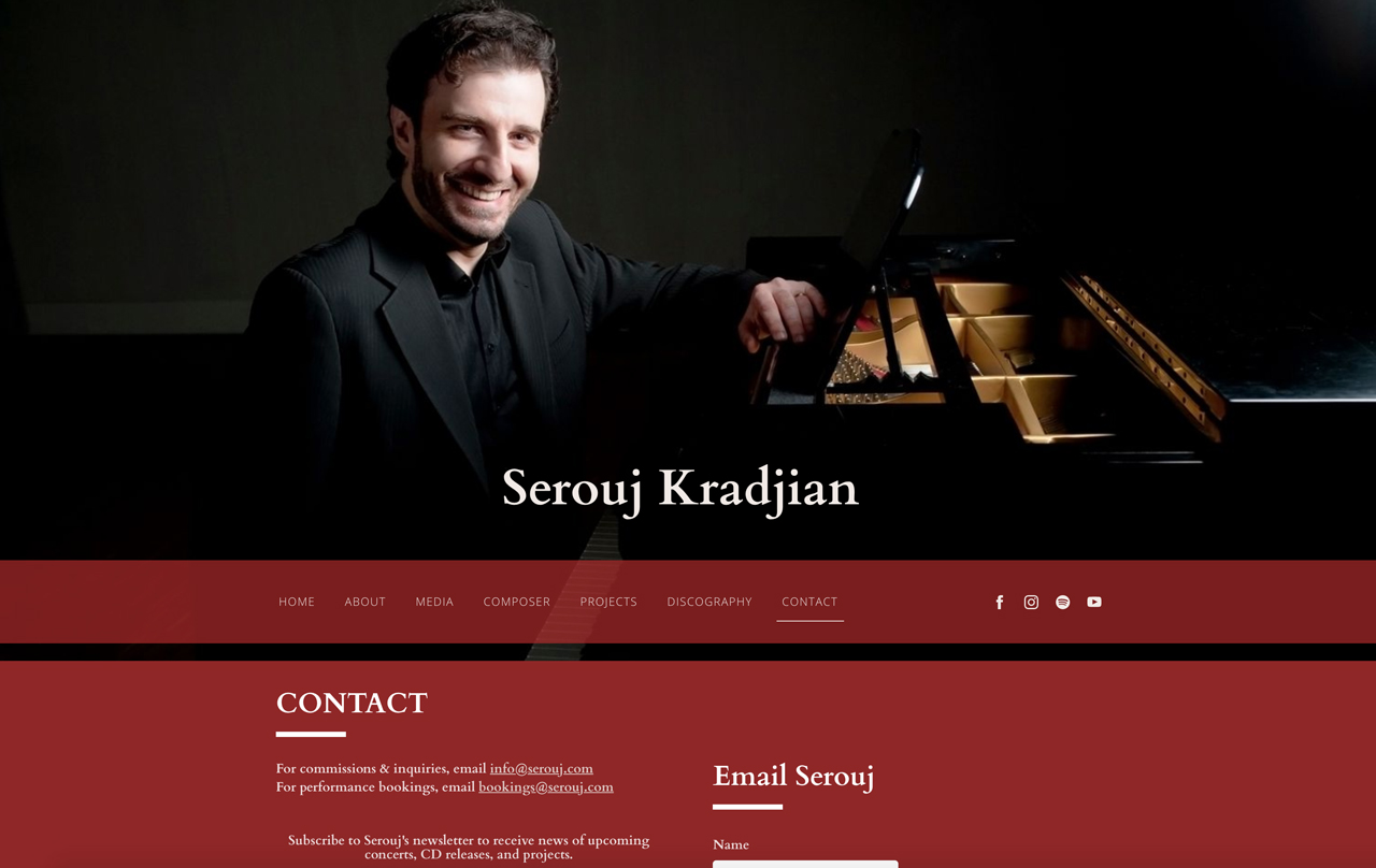 How to design a great pianist website