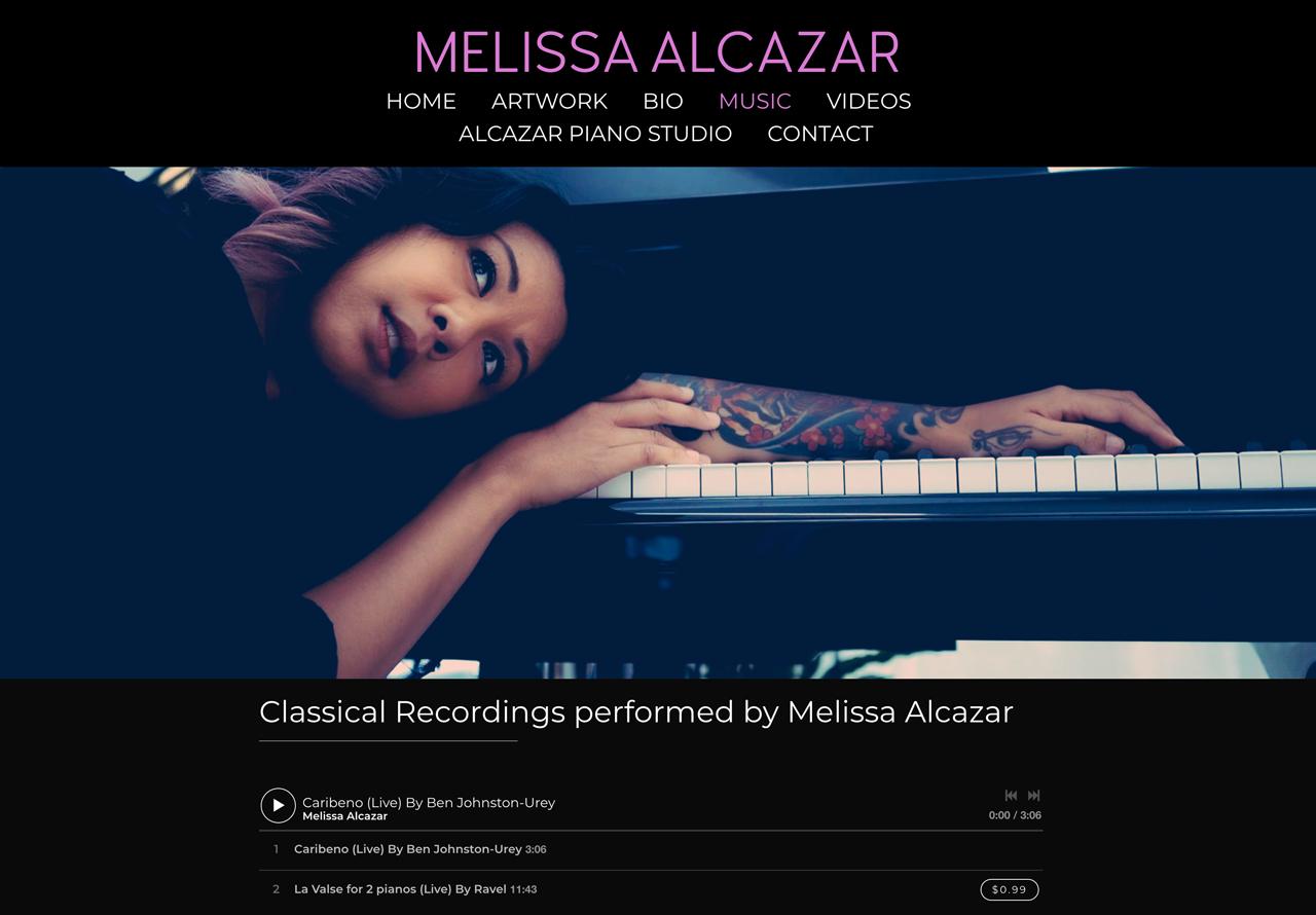 How to design a great pianist website - Melissa Alcazar
