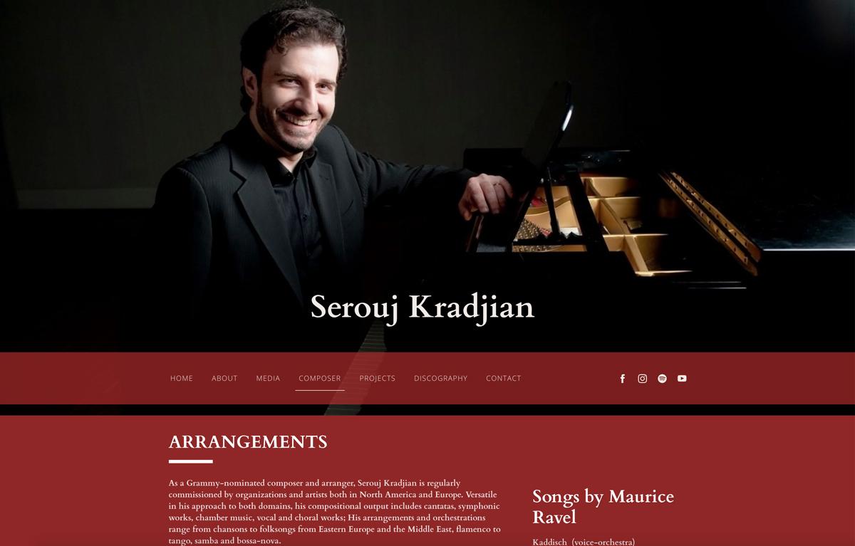 Best pianist website examples