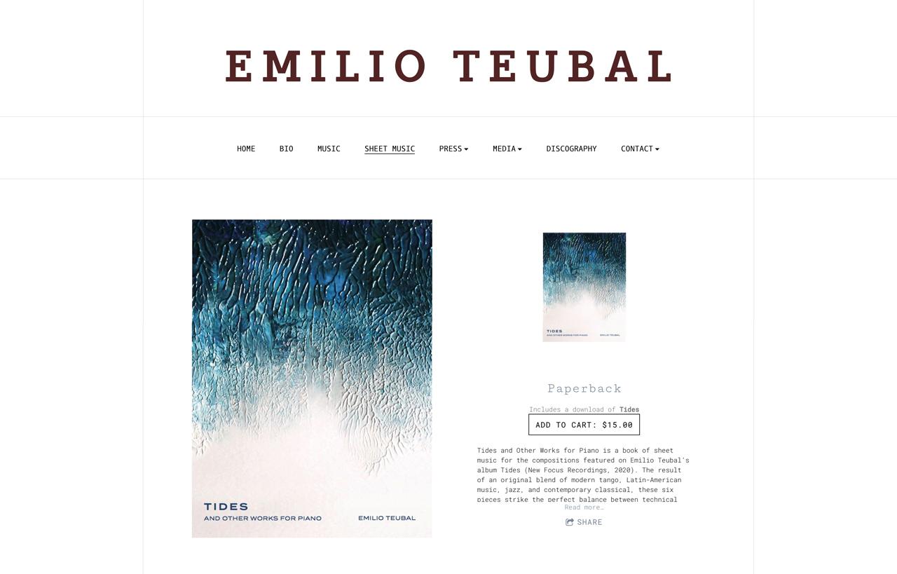 Best pianist websites design inspiration