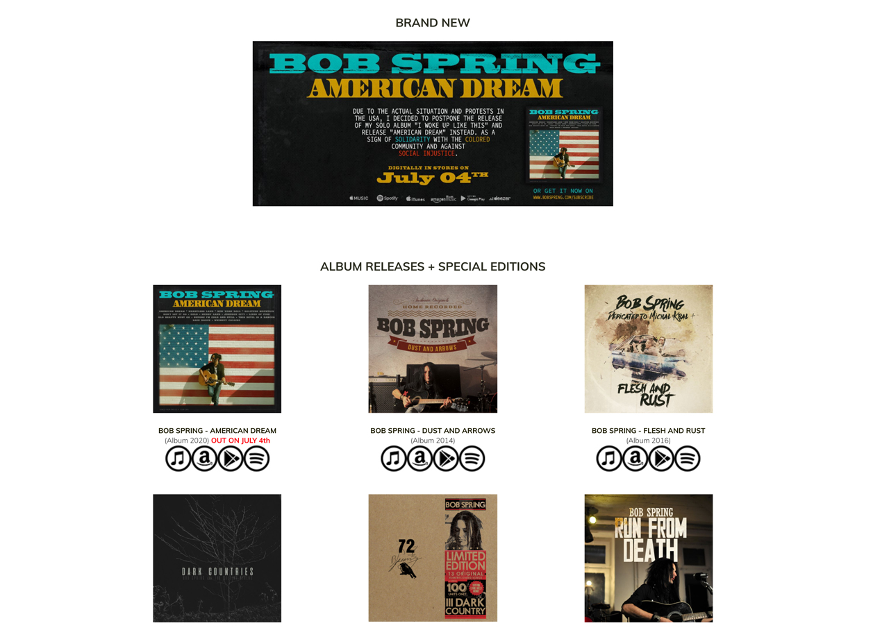 How to design a great songwriter website - music page