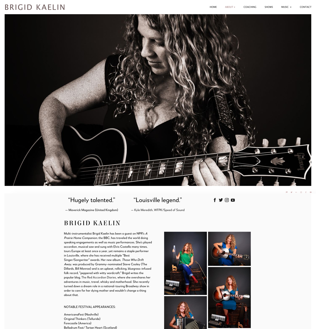 How to design a great songwriter website - press kit