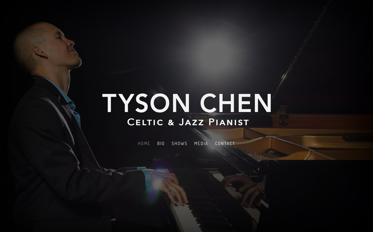 Best piano teacher website examples: Tyson Chen