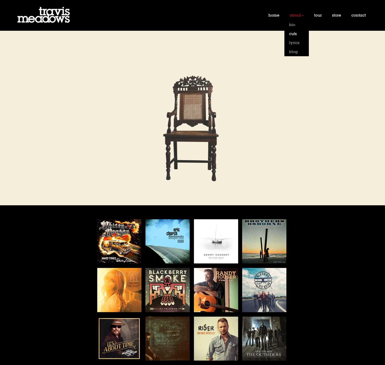 Best songwriter websites: Travis Meadows