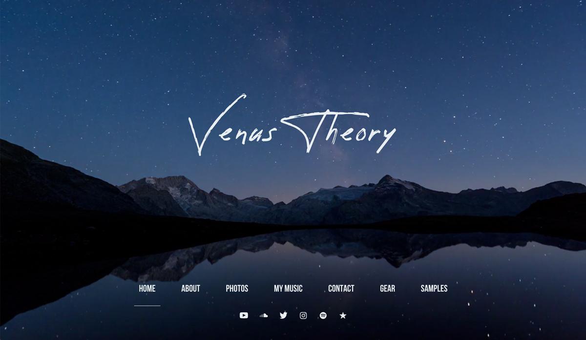 Recording Studio website examples - Venus theory