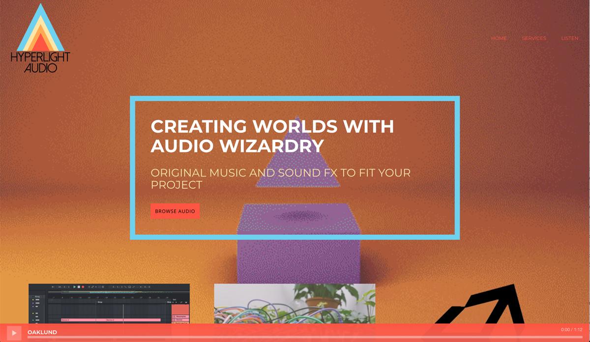 Recording Studio website examples - Hyperlight audio