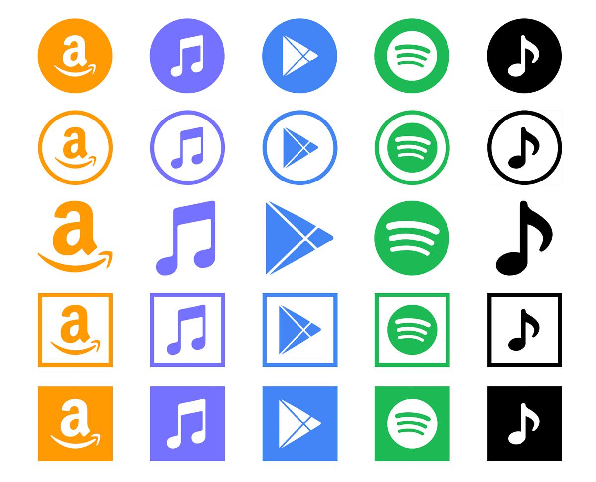 Social media icons shape options