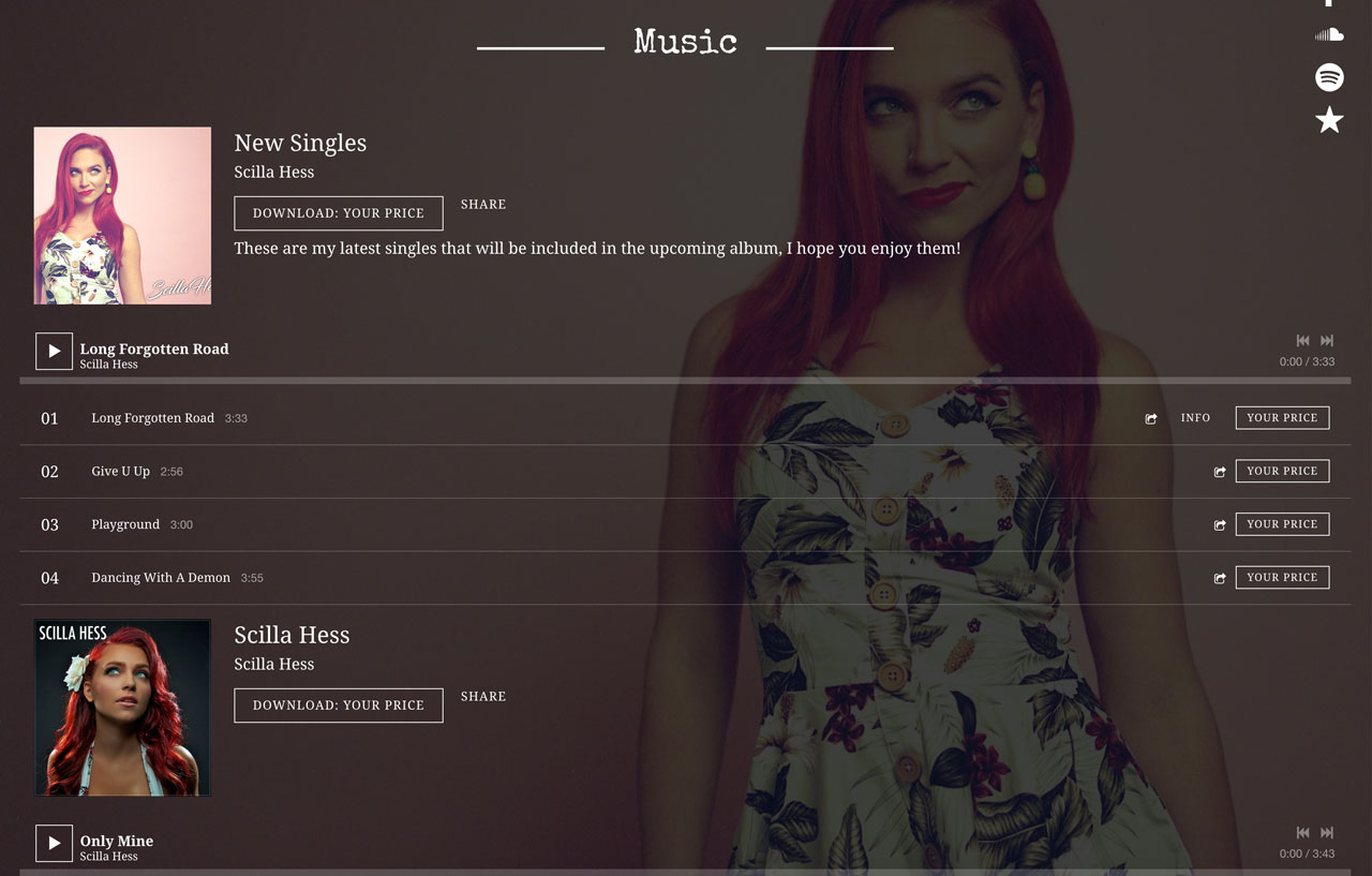 How to design a great singer website