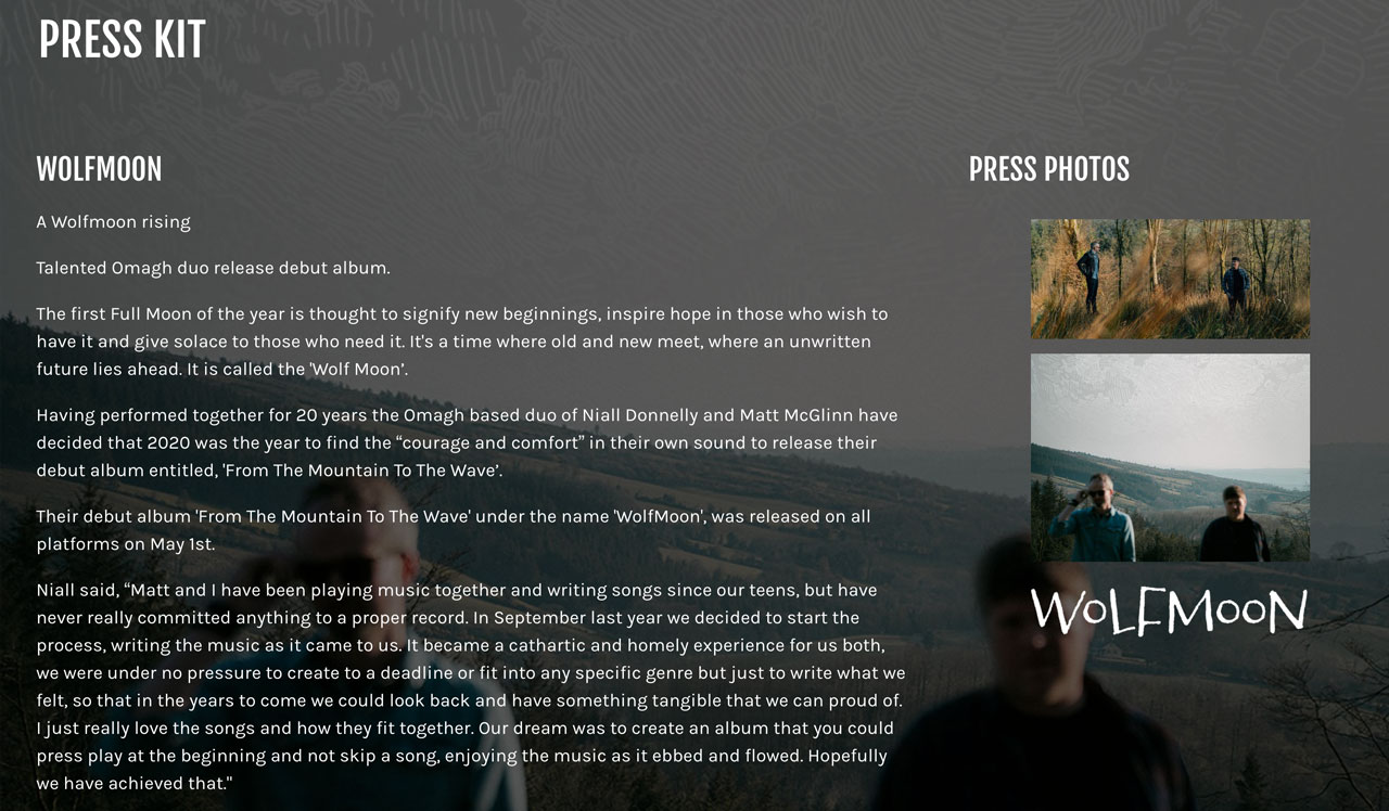 How to create an EPK for your music - example