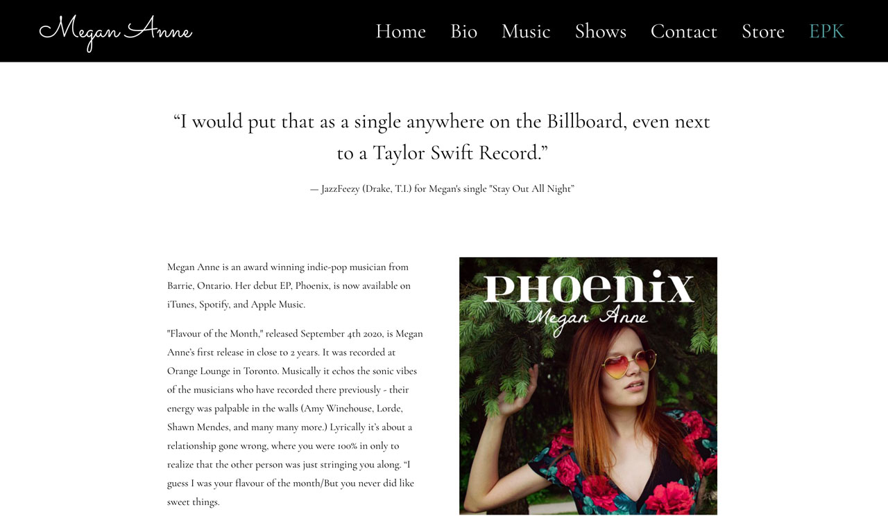 How to create an EPK for your music - with photos