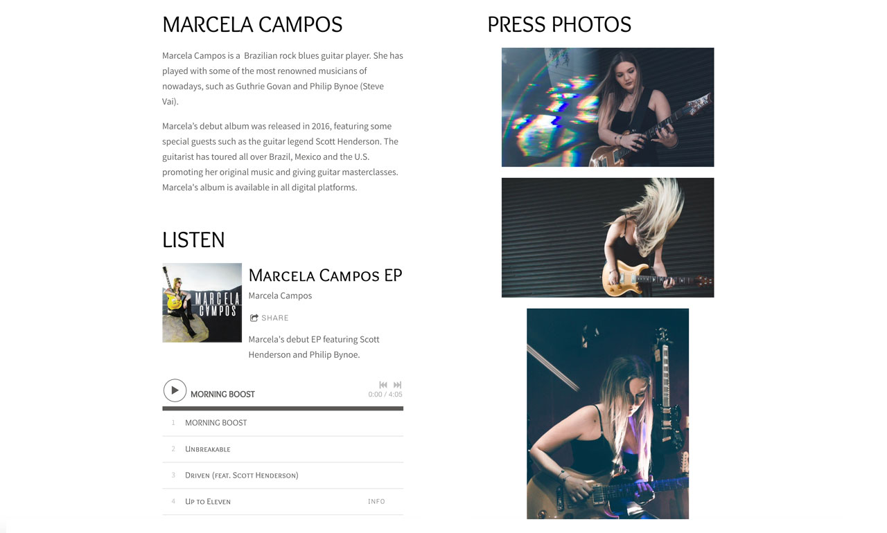 How to create an EPK for your music - EPK design