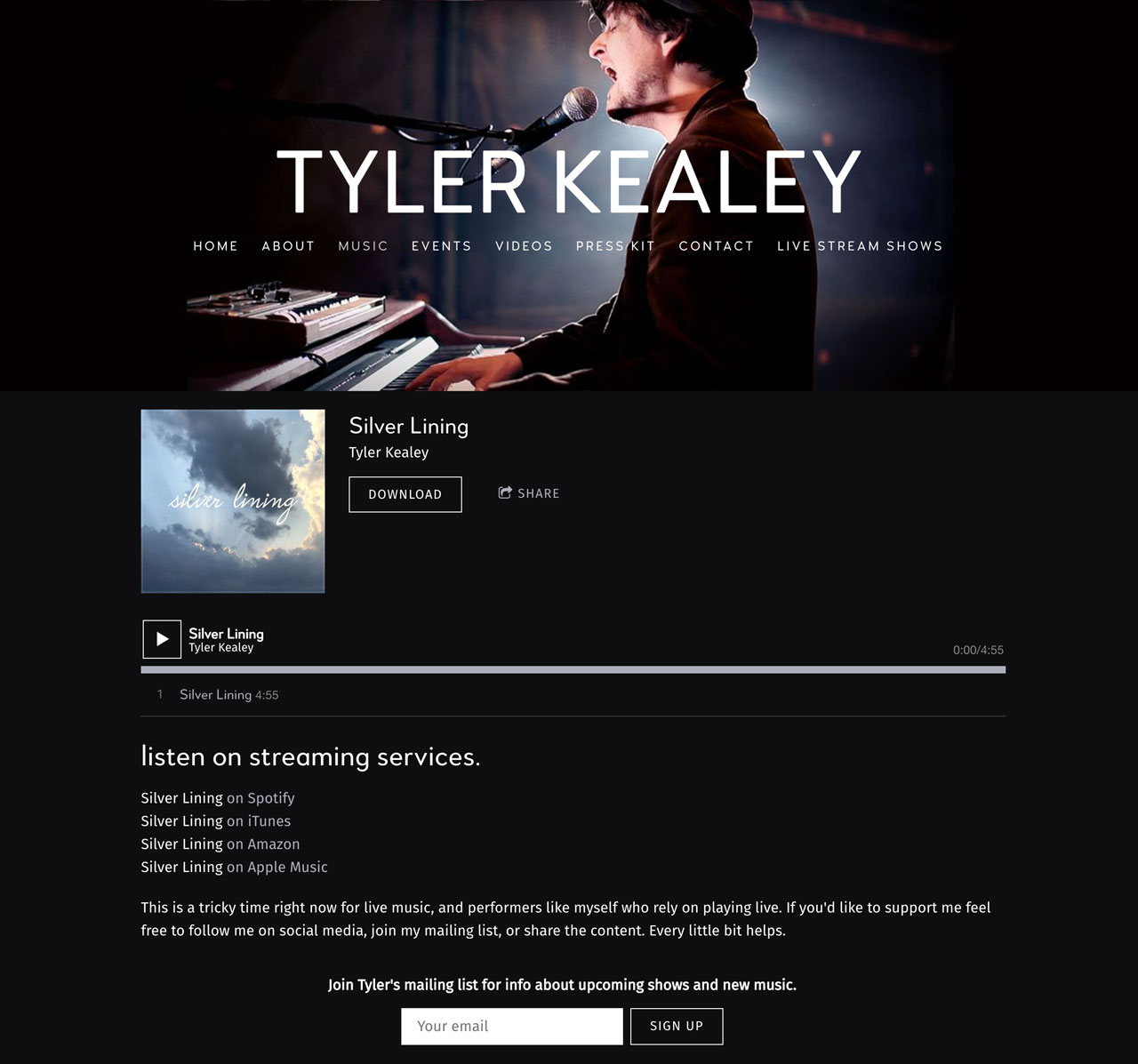 How to sell a single from your music website