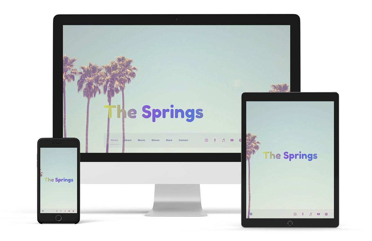 Playful music website template