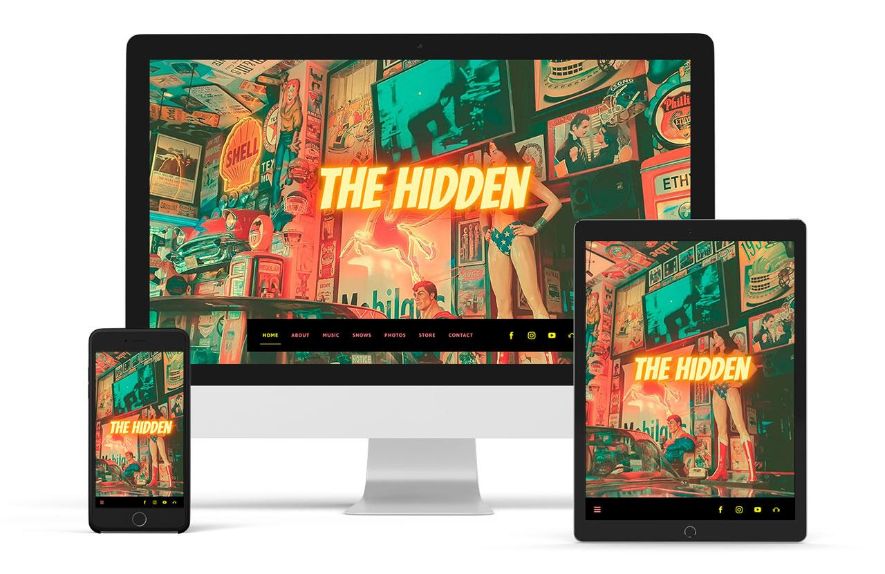 Playful website template for musicians