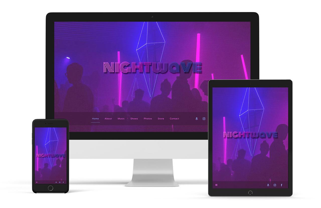 Musician website template sombre version