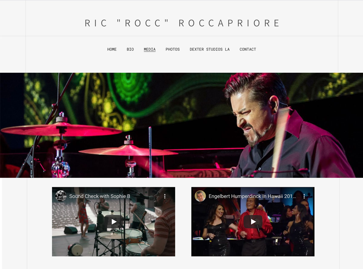 How to design a great drummer website media page
