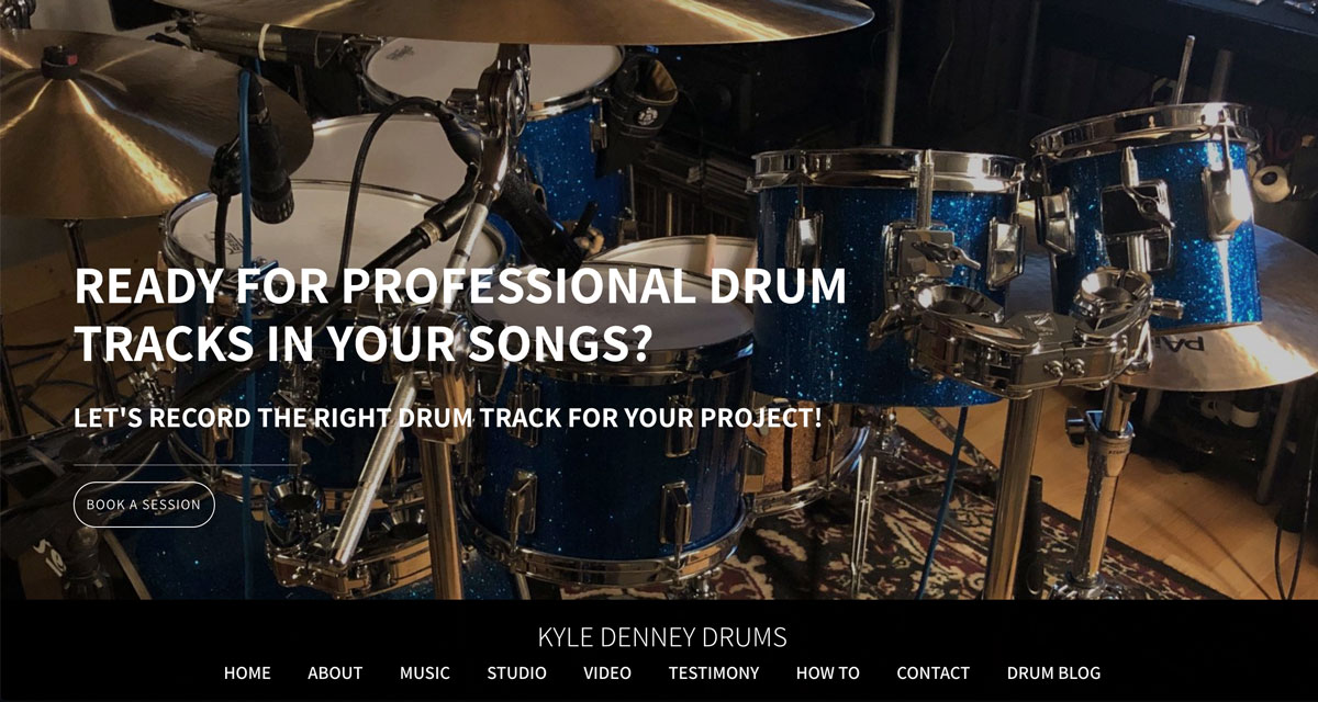 How to design a great drummer website homepage