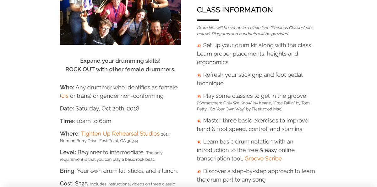 Best drummer websites: design inspiration