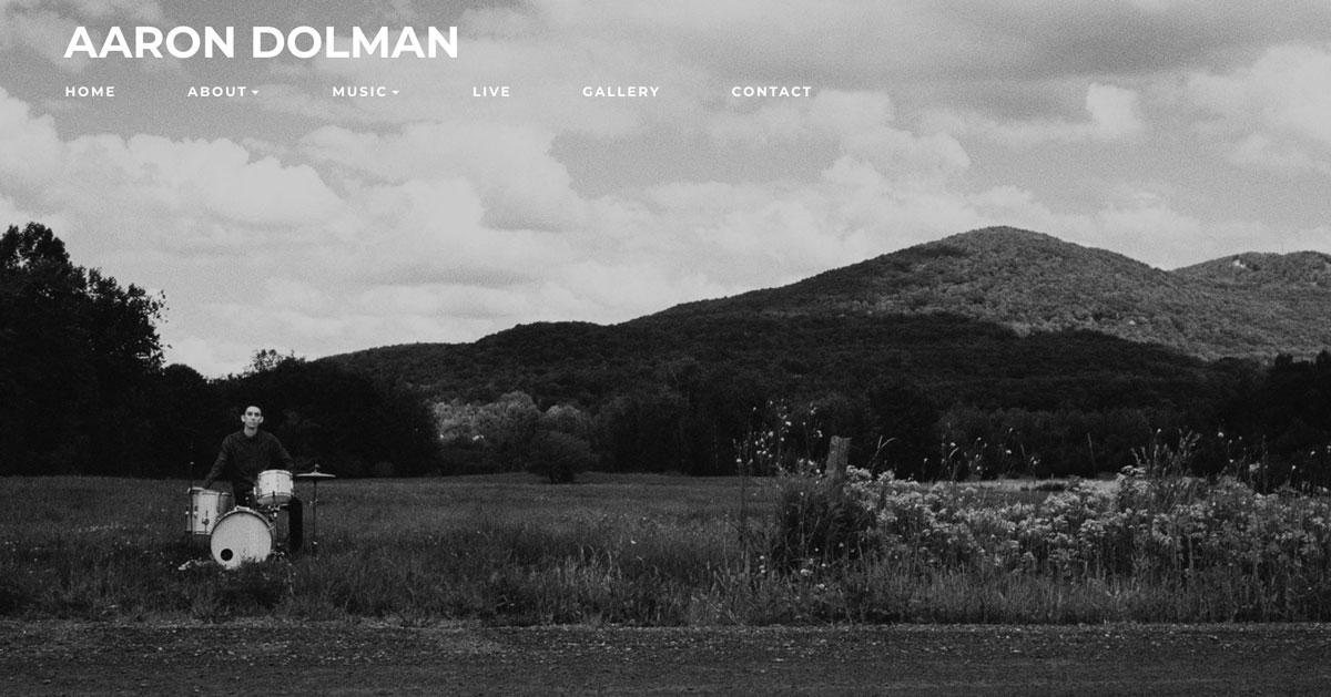 Website design inspiration: best drummer websites