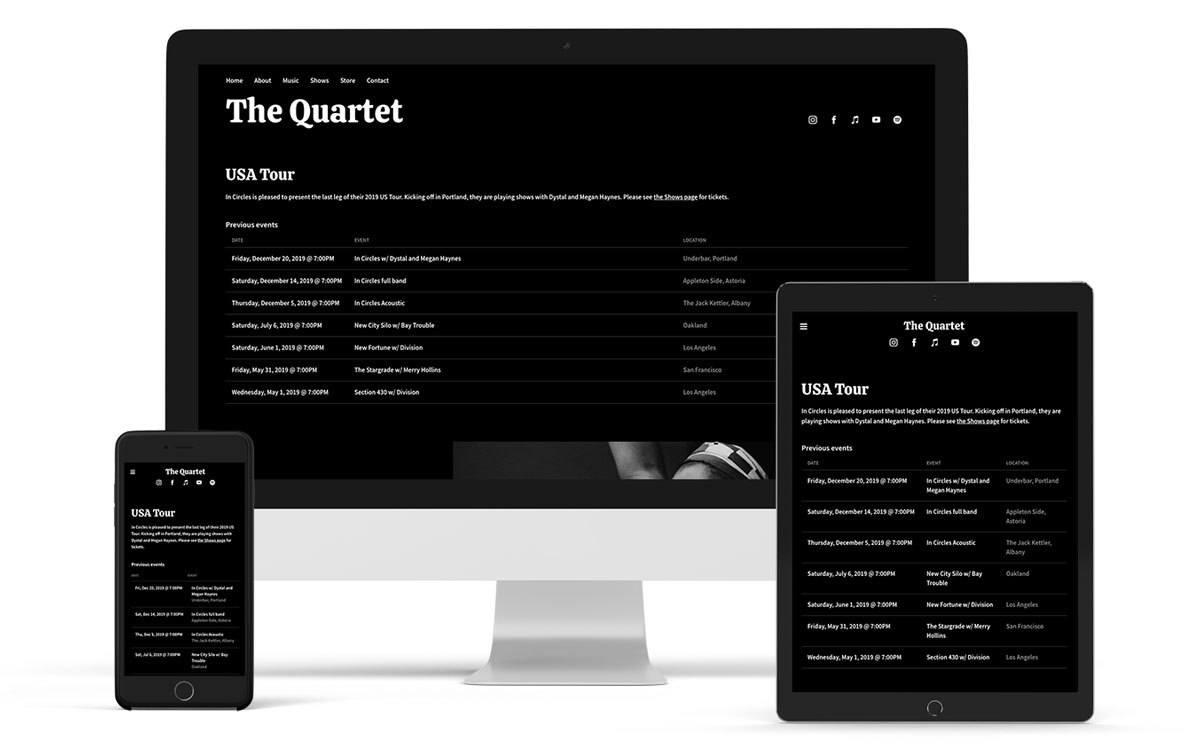New music website template: Jacob