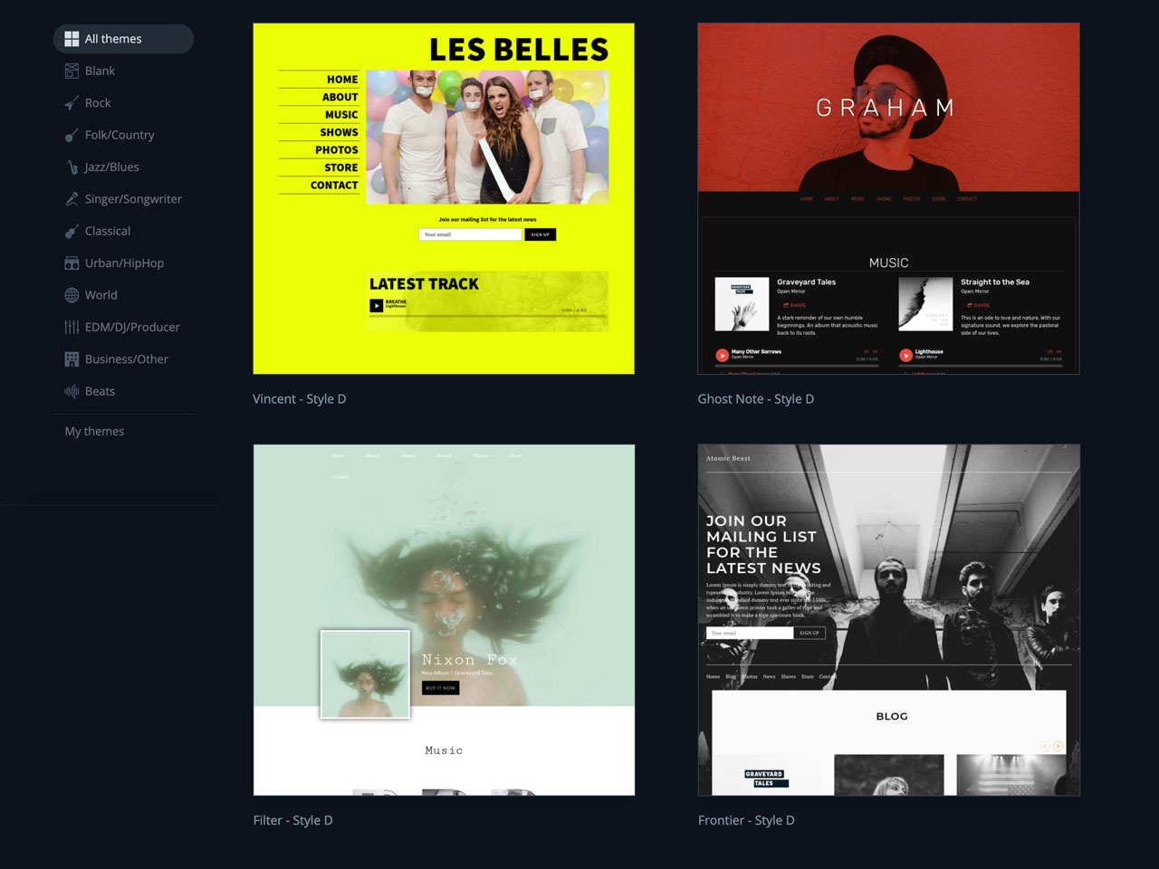 How to choose a music website template