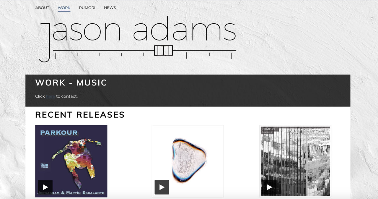 Music website template example