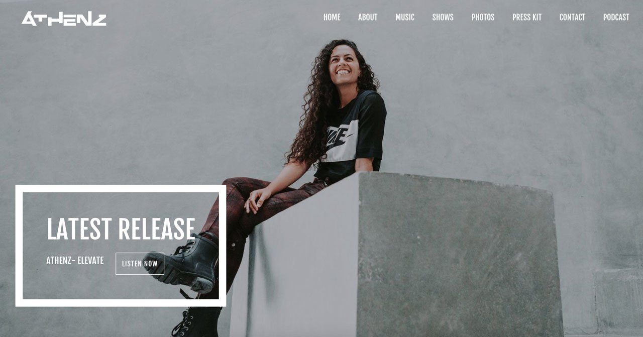 DJ website template example