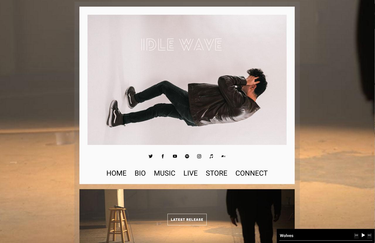 Musician website template example