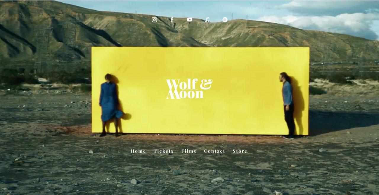 Best music website designs example - video header