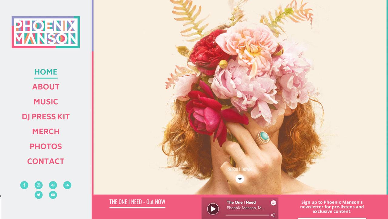 Best musician website designs - logo
