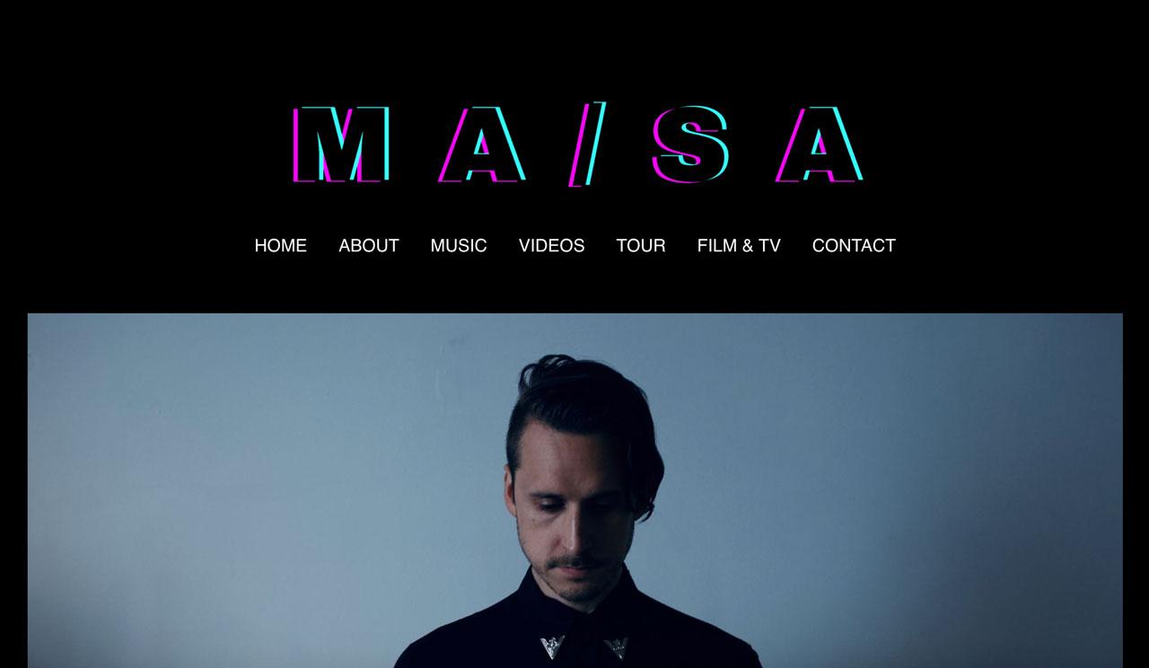 Best musician websites example - minimalism