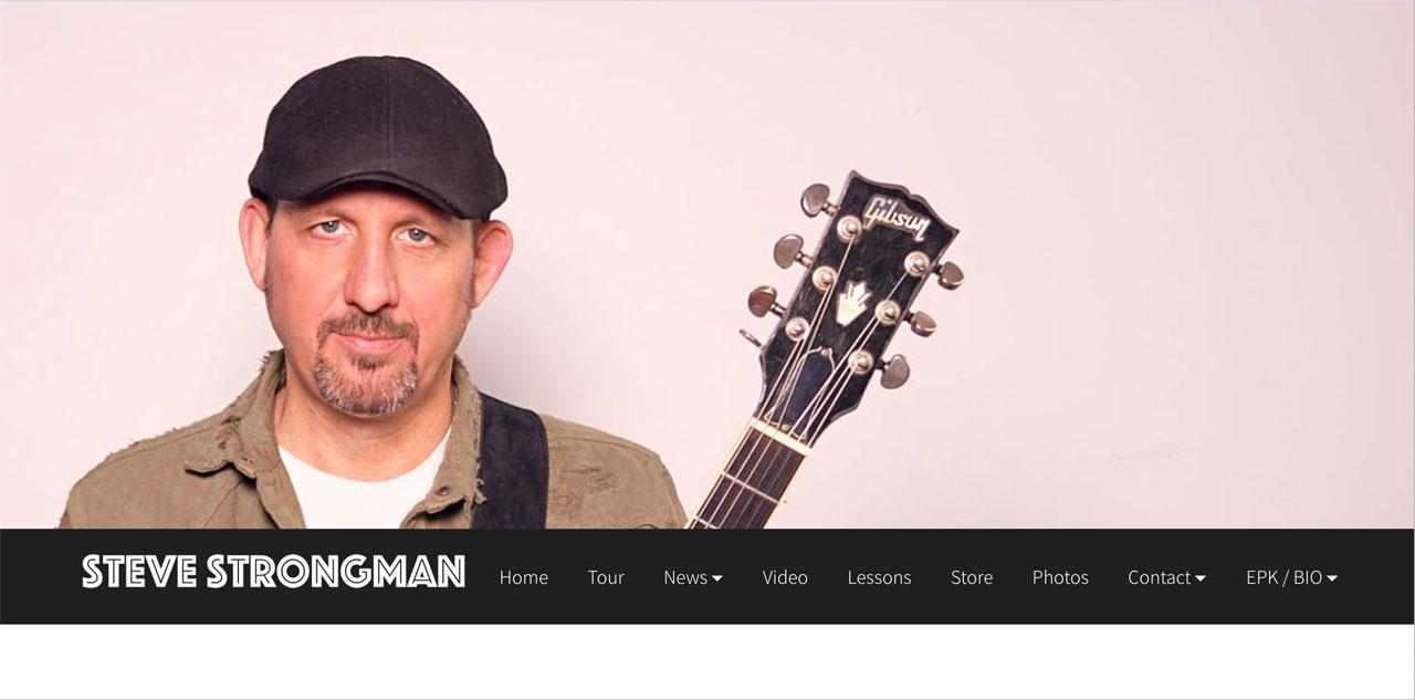 Steve Strongman Bandzoogle website