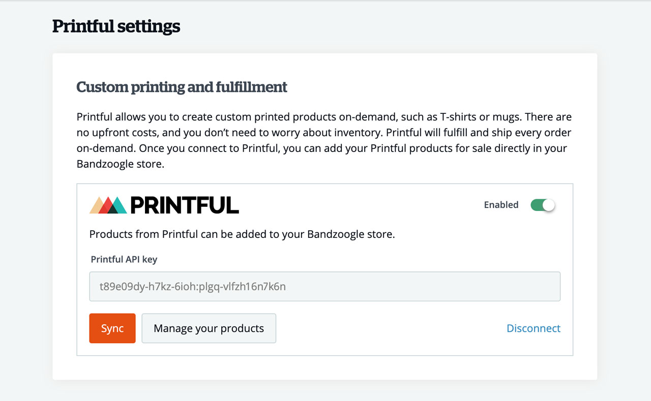Sell print-on-demand merch through your website with Printful