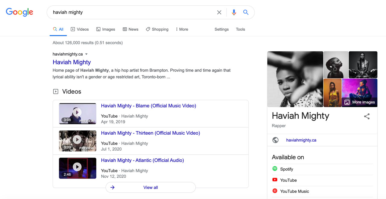 10 SEO Tips for Musicians: Google search