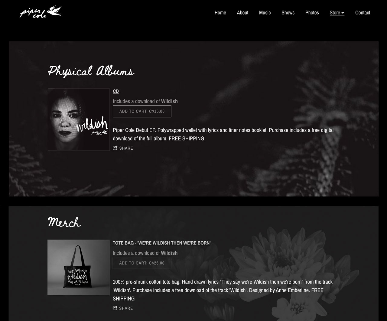 How to create a store page to sell music & merch on your website