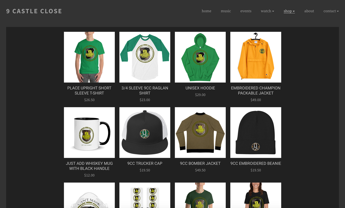 Sell more merch on your music website with Printful store example