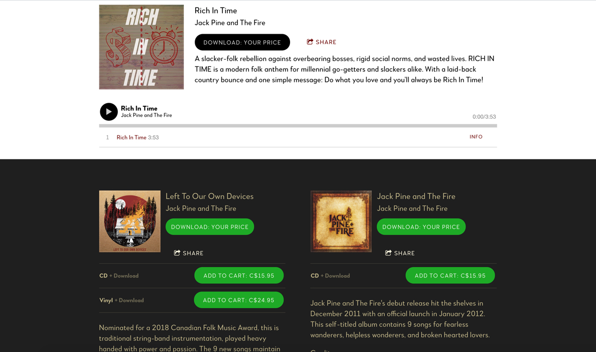 Website design inspiration: best singer-songwriter websites