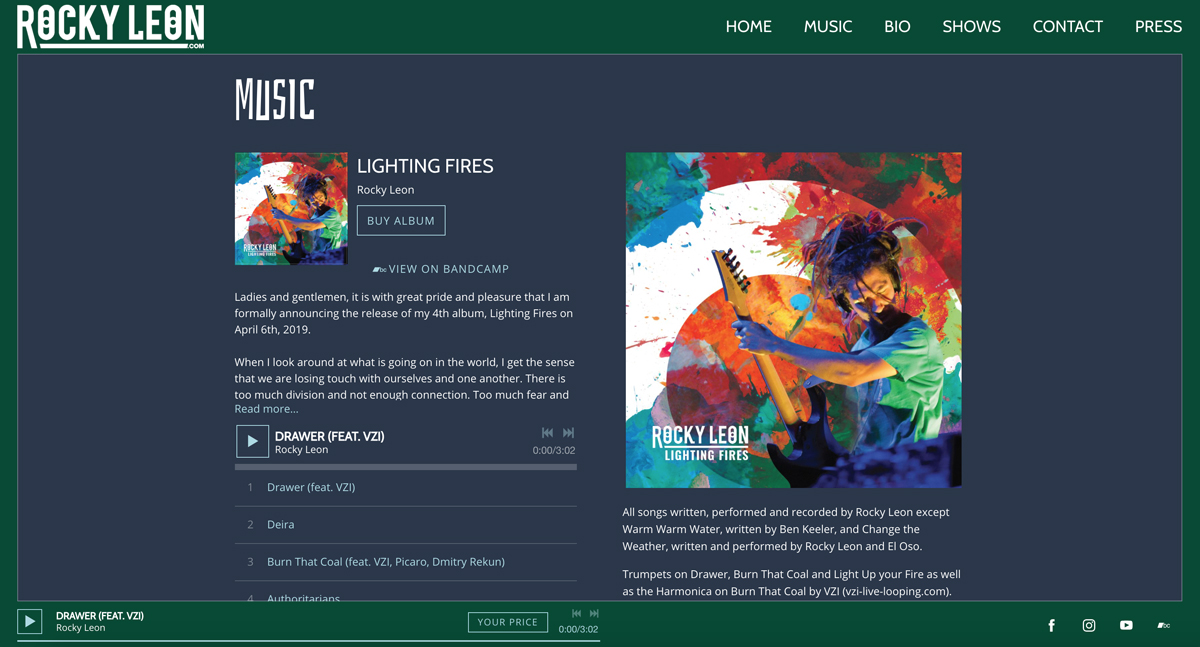 How to create a perfect page to sell music on your website