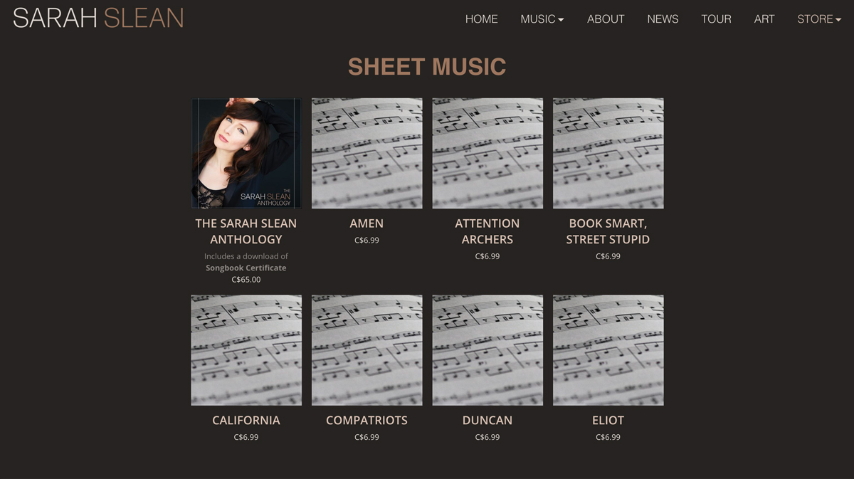 How to sell sheet music through your website