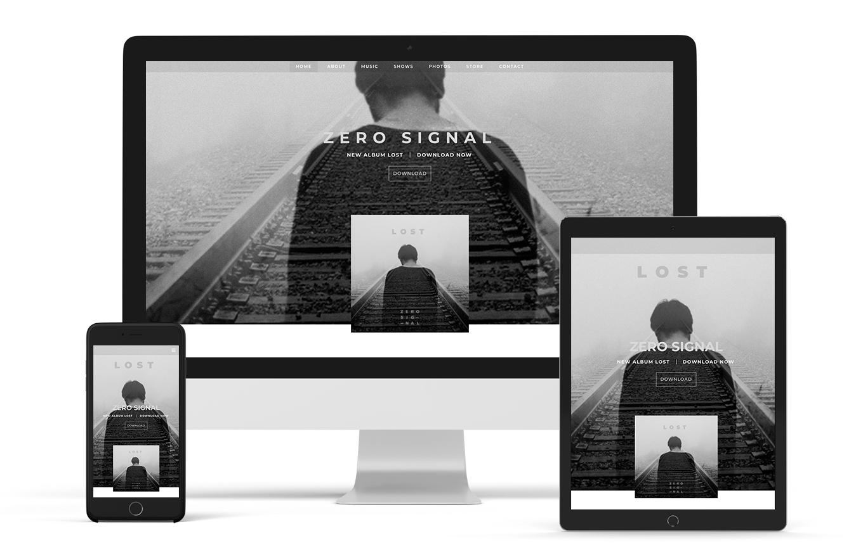 Website template example neutral jazz artist