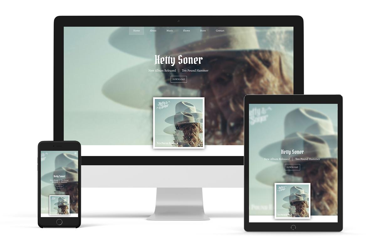 Website template example bluegrass band