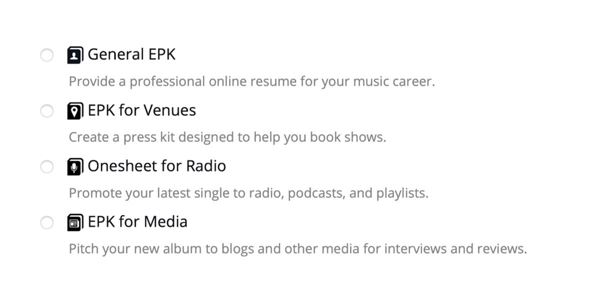 New: EPK templates