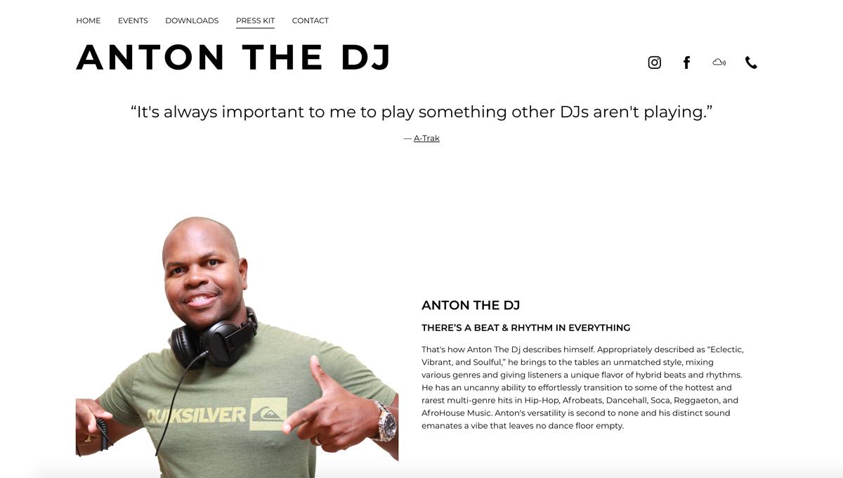 5 best website templates for DJs