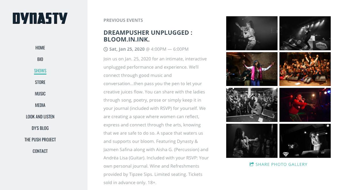 Website Design Inspiration: Best Rapper Websites