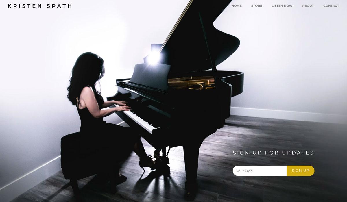 Design a great pianist website - Kristen Spath