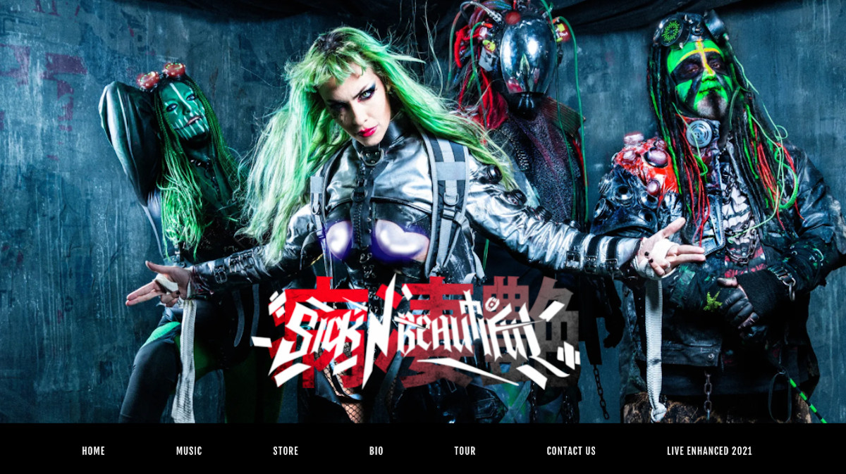How to design a metal band website - Metal band template - Sick n Beautiful