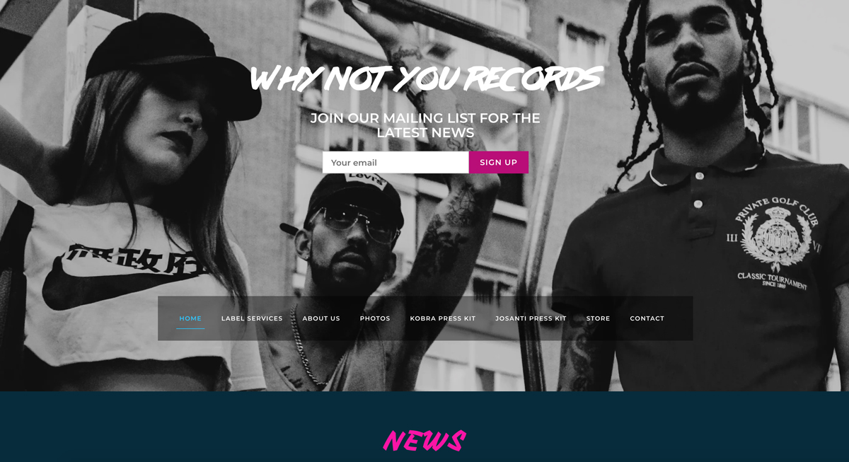 5 best website templates for record labels, for example