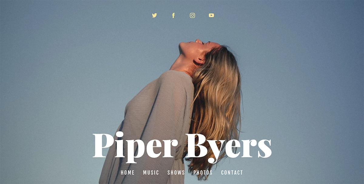 Best Singer Websites: Piper Byers